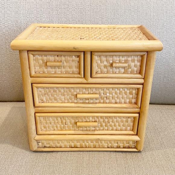 Vintage Rattan Storage/Jewelry Box